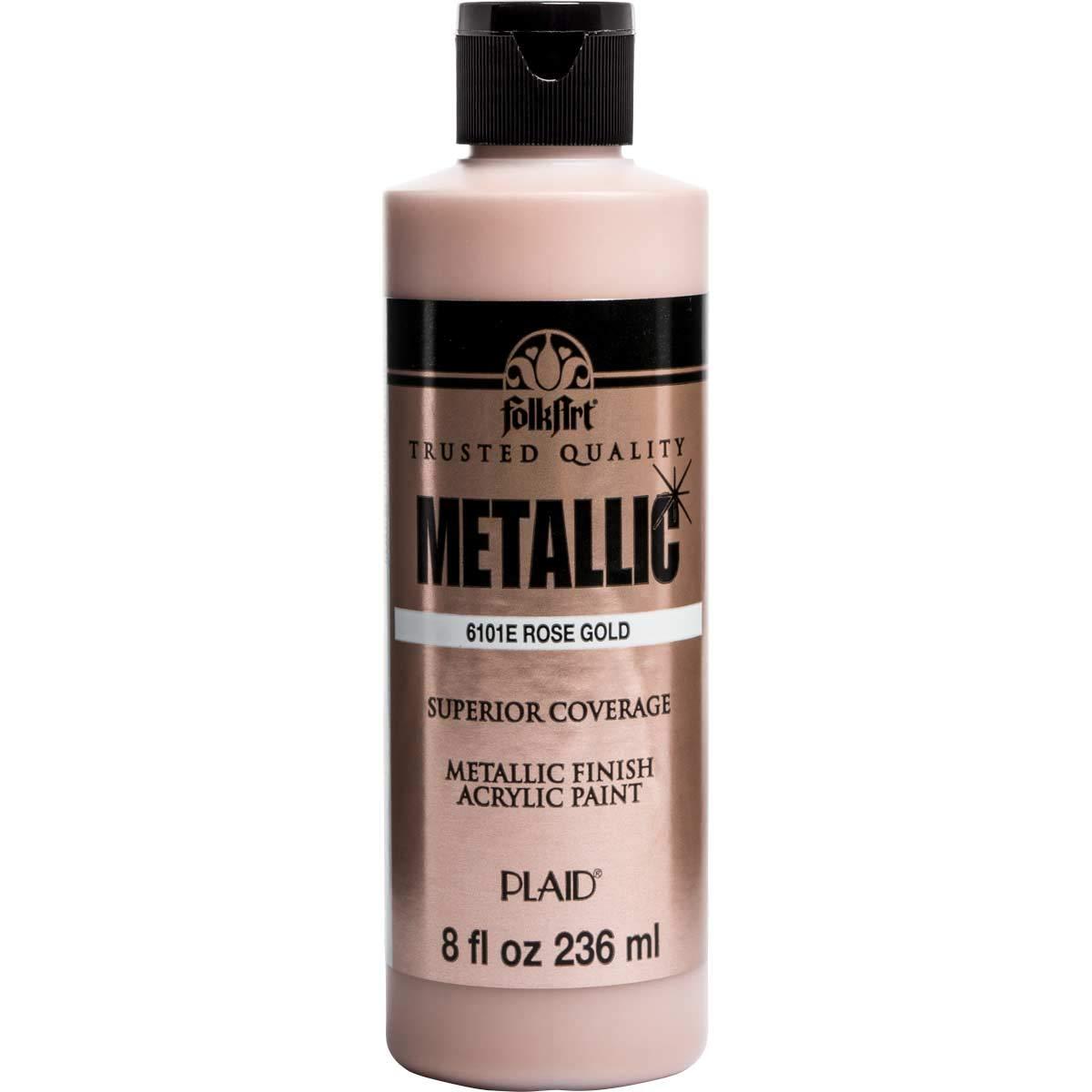 FolkArt Paint, 8 oz, Metallic Rose Gold