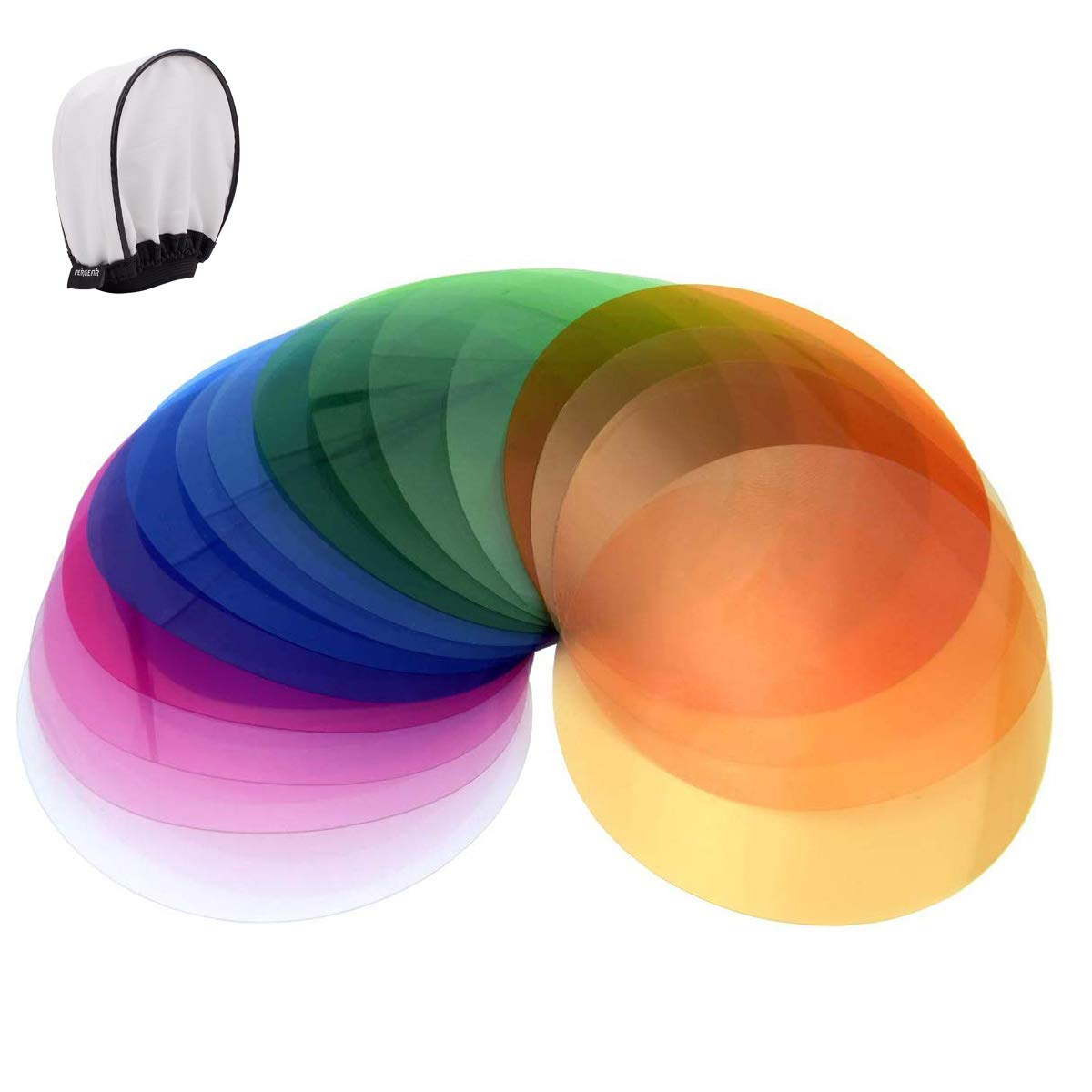 Godox V-11T Color Filters for Color Temperature Adjustment, Used with AK-R16 Diffuser Plate or AK-R1 kit,Compatible with Round Head Flash Godox V1-C,V1N,V1S,V1O,V1P,AD200 AD200PRO with H200R Ring