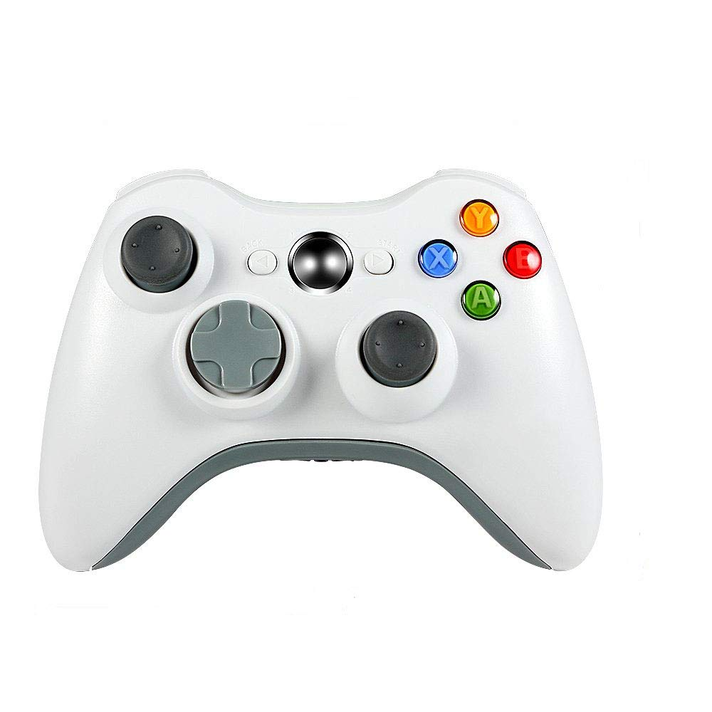 Wireless Controller for Xbox 360,Etpark Xbox 360 Joystick Wireless Game Controller for Microsoft Xbox & Slim 360 PC Windows 7,8,10 (White)