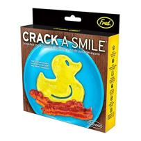 Fred & Friends Crack A Smile Silicone Egg and Pancake Breakfast Mold, 5.8-Inch, Rubber Ducky