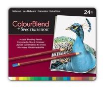 Spectrum Noir ColorBlend Pencils-24 pc ColourBlend Premium Blendable Artists Pencils, Naturals, Pack of 24, Beige