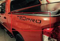 BDTrims Truck Bed Raised Letters Compatible with Tundra TRD Pro 2014-2020 Models - Both Sides (Glossy Black)
