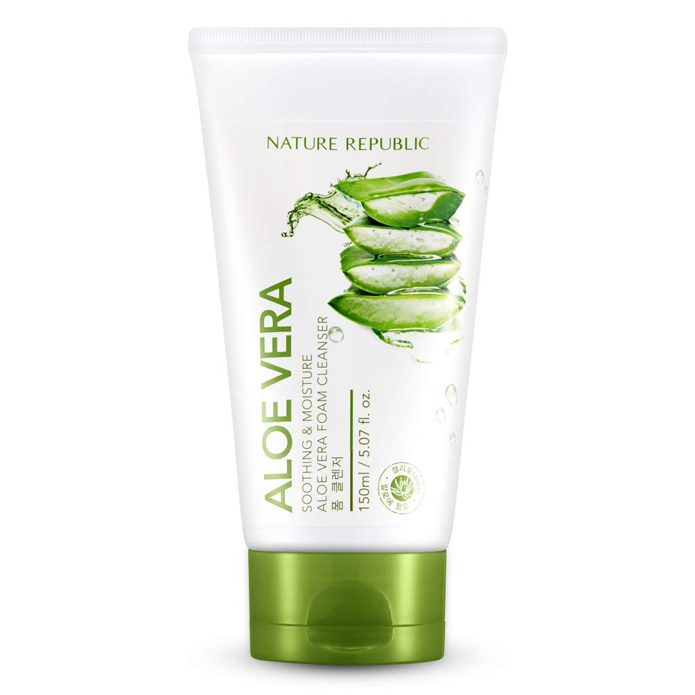 Nature Republic Soothing & Moisture Aloe Vera Foam Cleanser 150 ml / 5.07 fl. Oz
