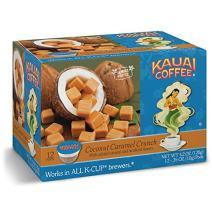 Kauai Coffee Coconut Caramel Crunch Single-Serve Cups, 12 Count
