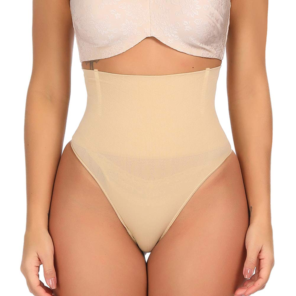 Lover-Beauty High Waist Body Shaper Thong Seamless Briefs Butt Lifter Control Panties Slimming Shapewear