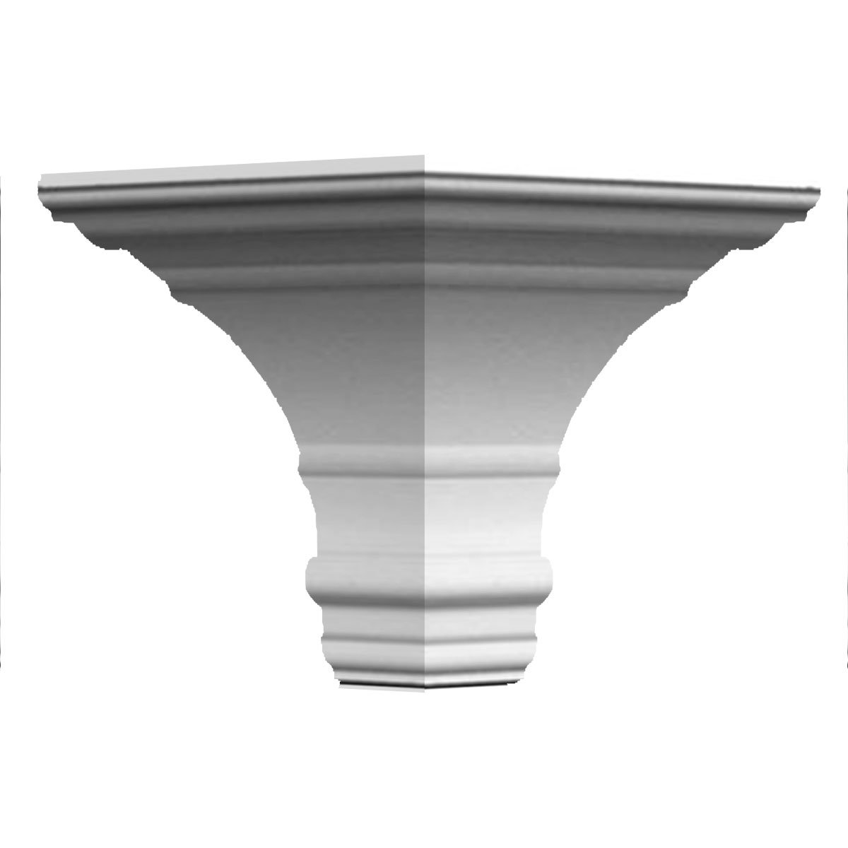 "Ekena Millwork MOC07X06FO Outside Corner (Matches Moulding MLD06X07X09FO), 7""P x 6 3/4""H, White"