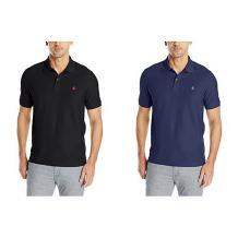 IZOD Men's Slim Fit Advantage Performance Short Sleeve Solid Polo