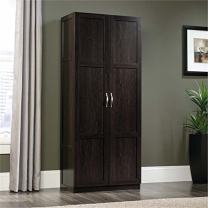 Pemberly Row Storage Cabinet, Pantry Cabinet, Linen Cabinet with Shelves in Cinnamon Cherry