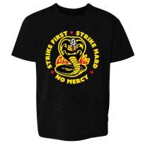 Cobra Kai Motto Circle No Mercy Karate Kid Toddler Kids Girl Boy T-Shirt