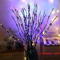 Twig LED Light,Winnes Artificial Tree Willow Branches Lamp Auto High 2 Pack 40 Waterproof LED Beads Battery Powered for Home Festival Party Indoor Outdoors Decoration(Multi-Color)