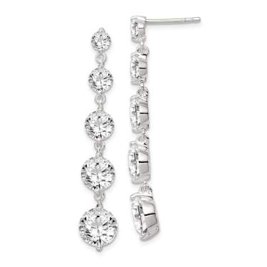925 Sterling Silver Stellux Crystal Ball Post Stud Earrings Button Fine Jewelry For Women Gifts For Her