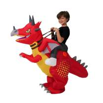 HORYEE Inflatable Dinosaur Costume for Kids Boys Girls Inflatable Ride on Dinosaur Costume