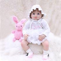 "OtardDolls 20"" Reborn Baby Dolls,Lifelike Realistic Cute Open Eyes Girl with Snow White Skirt, Soft Vinyl Newborn Baby Children Gifts Ages 3+"
