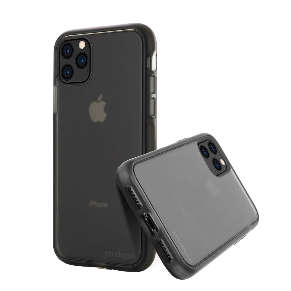 Prodigee [Safetee Smooth Smoke for iPhone iPhone 11 Case Silicon Soft Finish Clear Transparent Translucent Matte Shook Proof Cover 6.1''