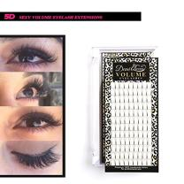 Demi Queen 5D Prefanned Volume Eyelashes Extension Handmade Rapid Cluster Lashes 0.07mm C Curl (10mm)