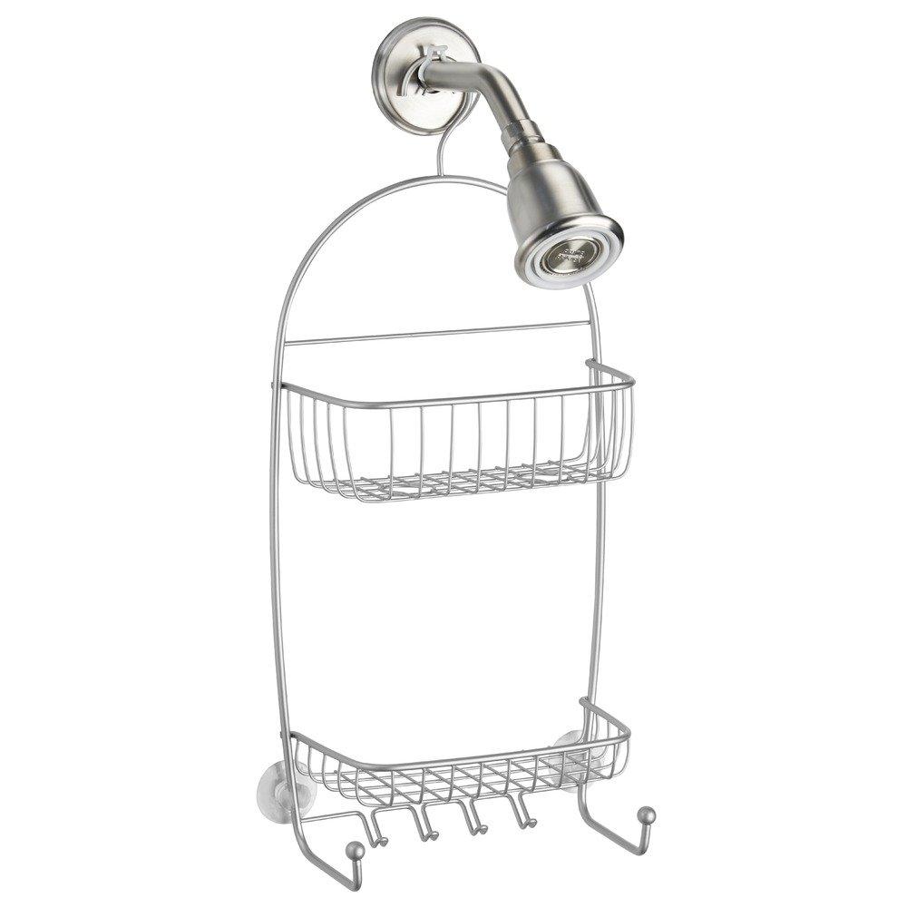 InterDesign Raphael Bathroom Shower Caddy, Tall - Silver