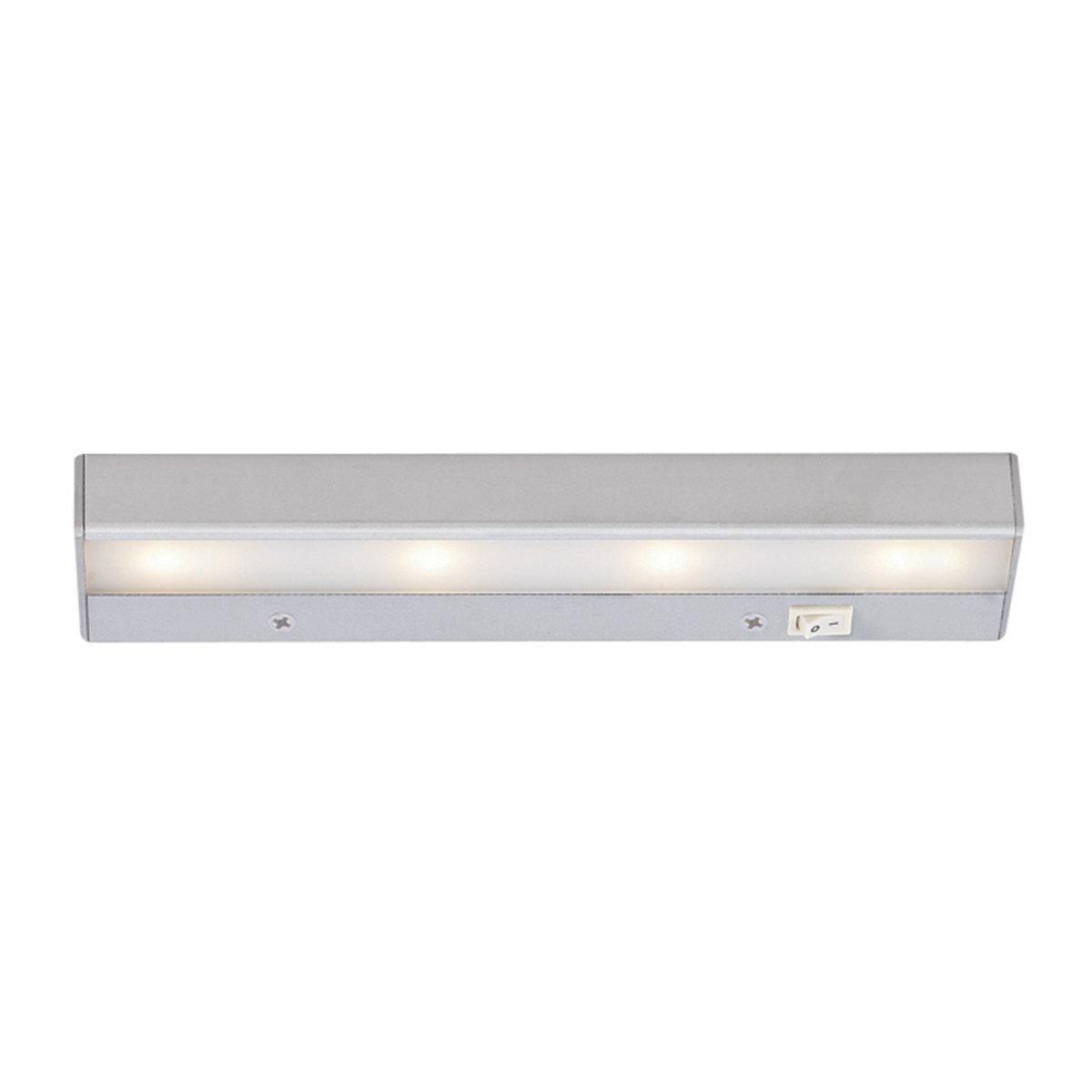 """WAC Lighting BA-LED4-27-SN 2700K Warm White LEDme 120V Light Bar, 12"""", Satin Nickel"""