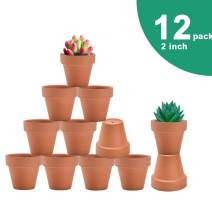 vensovo 2 Inch Terra Cotta Pots with Drainage - 12 Pack Clay Flower Pots, Succulent Nursery Pots Great for Plants, Crafts, Wedding Favor
