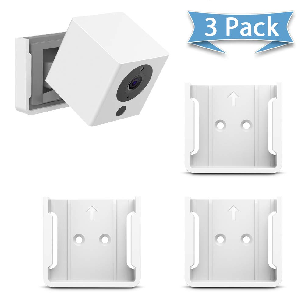 HOLACA Quick Indoor Wall Mount Bracket for Wyze Cam 1080p HD Camera and iSmart Alarm Spot Camera (3 PACK, White)