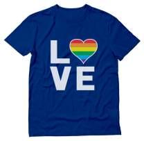 Gay Love Rainbow Heart LGBT Gay Pride Awareness T-Shirt
