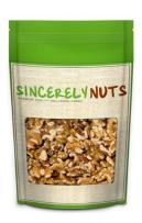 Sincerely Nuts Organic Raw Walnuts No Shell (1lb bag) | Kosher & Gluten Free | Vegan, Keto & Paleo Diet Friendly Snack Food | Natural & Delicious Source of Powerful Antioxidants | Source of Vitamin K