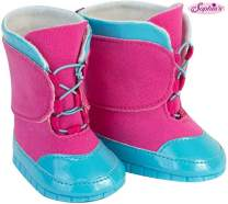 Sophia's 18 Inch Doll Snow Boots, Detailed Blue and Pink Snow Boots for Dolls