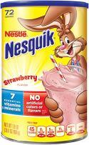Nestle Nesquik Flavored Powder Strawberry 1.9 lbs