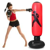 TUOWEI Punching Bag,63 Inch Inflatable Kids Punching Bag with Stand Bounce Back, Boxing Bag for Kids and Adults,Free Standing Boxing Toy Youth Boxing Bag