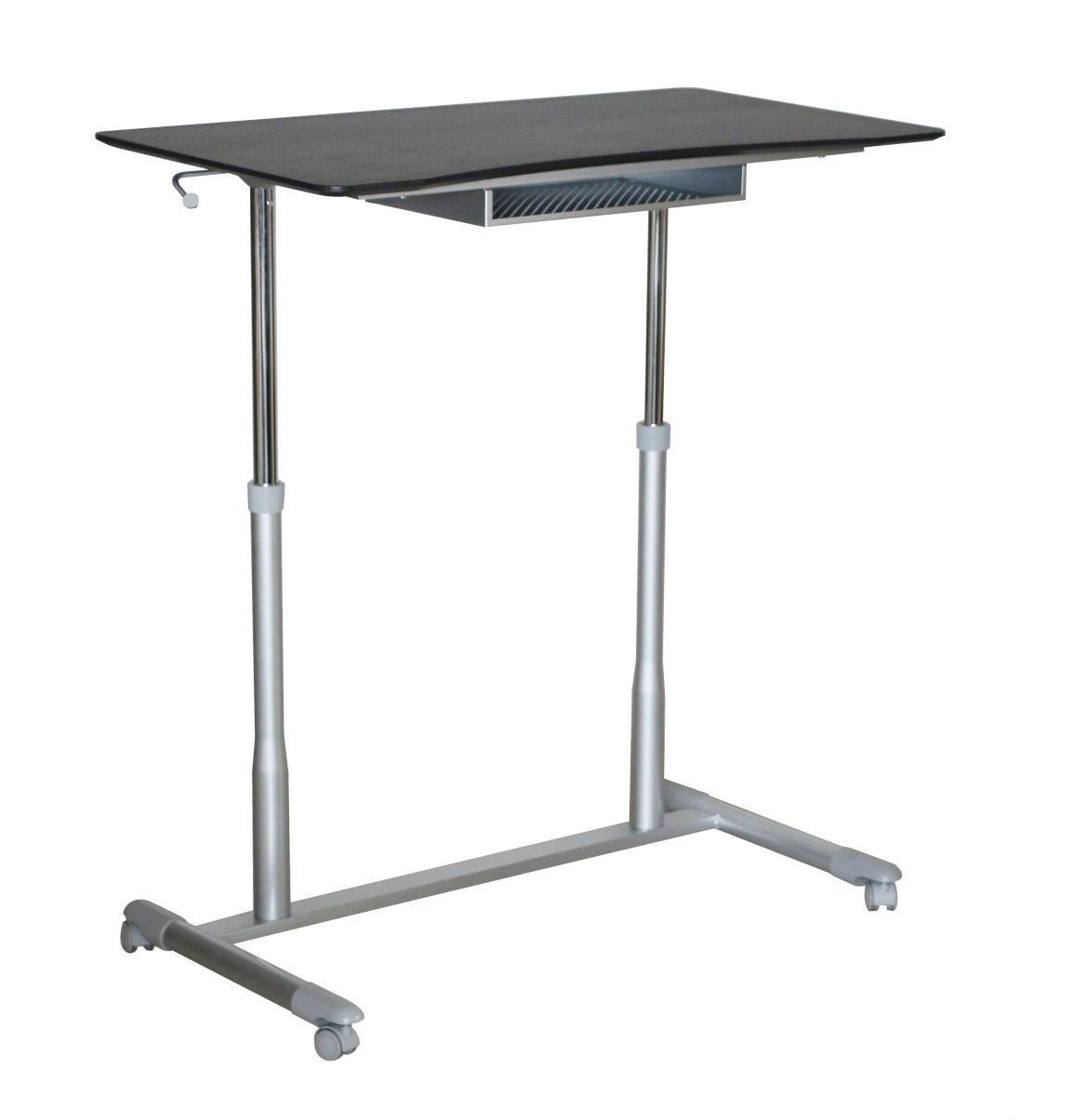 Unique Furniture Height Adjustable Sit Stand Desk with Espresso Top