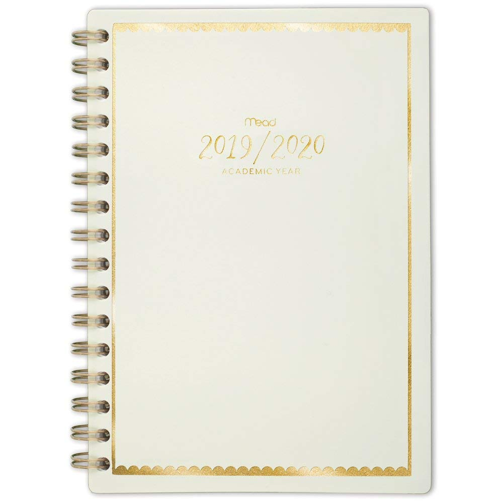 """Mead 2019-2020 Academic Year Weekly & Monthly Planner, Small, 5-1/2"""" x 8-1/2"""", Pastel, Mint (1217-200A-23)"""
