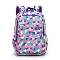 MITOWERMI Fashion Geometric Prints Primary School Student Backpack For Girls &Boys Waterproof Kids Schoolbag Casual Daypack
