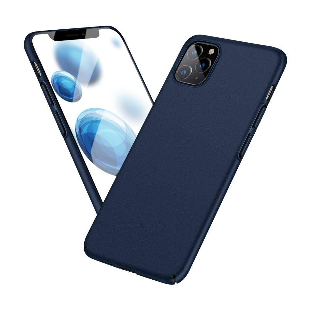 Meidom Case for iPhone 11 Pro Max with Matte Finish Grip Slim Fit Anti Fingerprints Phone Cover for iPhone 11 Pro Max (6.5 inch) - Blue