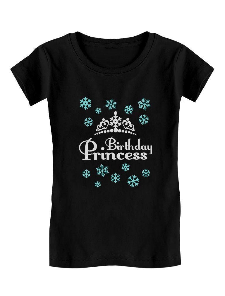 Birthday Princess Shirt Adorable Toddler Kids Birthday Gift Girls Fitted Tshirt