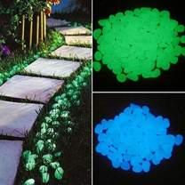 Pebbles Glow Stones - Glow in The Dark Garden Pebbles, Luminous Stones Rocks for Walkways Garden Path Patio Lawn Garden Yard Decor (10pc, Yellow)