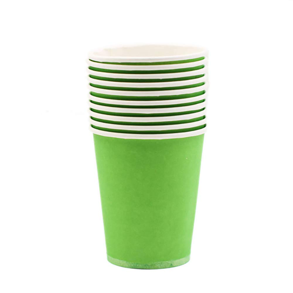 Riarevt Colorful Paper Cups Colorful Party Decoration Cups DIY Disposable Paper Cups Thickened Color Paper Cups Hand-Designed Paper Cups Color party supplies Paper Cups 120 Count(pale green)