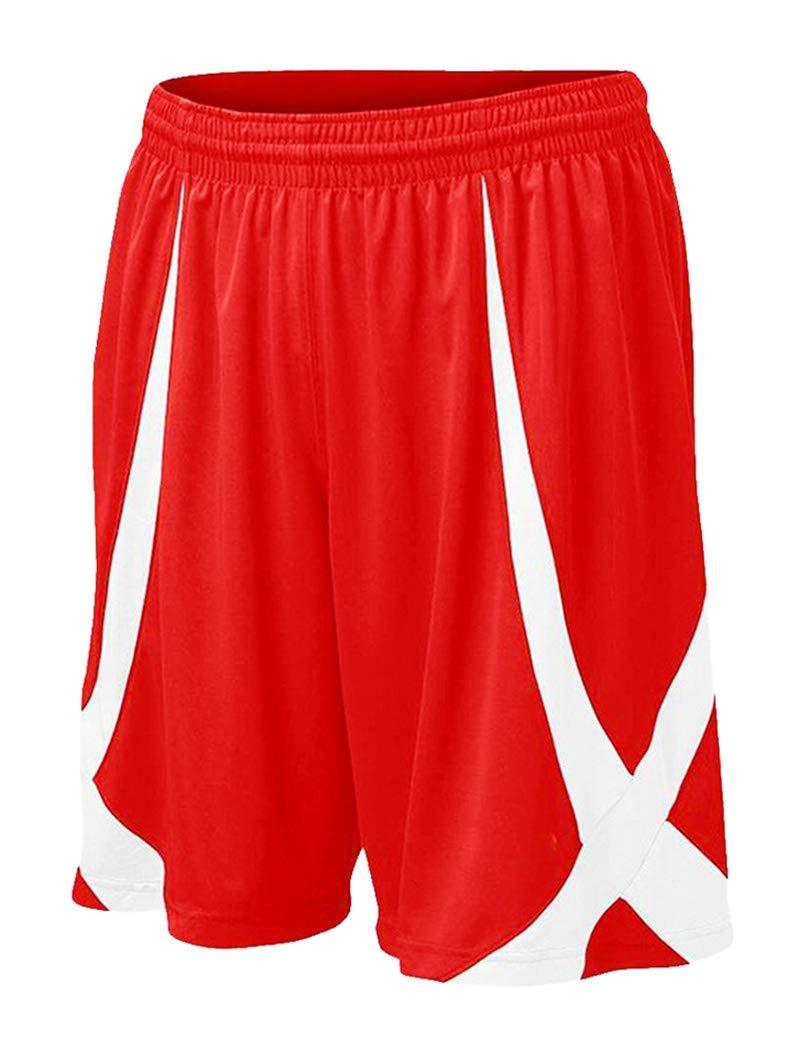 TOPTIE Men's Basketball Shorts, Flag Football Shorts No Pockets, MMA Pro Shorts