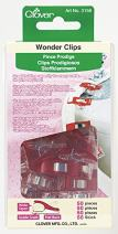 Clover Wonder Clips, Red, 50-Pack