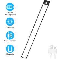 Closet Light Wireless Under Cabinet Lighting - Ultra Thin Battery OperatedUnder Cabinet Lights for Kitchen, Wardrobe and Hallway (Black)