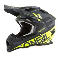 O'Neal 0200-214  unisex-adult off-road style 2SERIES Helmet SPYDE black/hi-viz L, Large