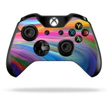 MightySkins Skin Compatible with Microsoft Xbox One or One S Controller - Rainbow Waves | Protective, Durable, and Unique Vinyl wrap Cover | Easy to Apply, Remove, and Change Styles | Made in The USA