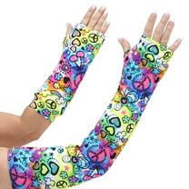 """CastCoverz! Designer Arm Cast Cover - Peace of Fun - Small Long: 18"""" Length X 9"""" Circumference - Removable and Washable - Made in USA"""