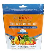 Bluapple One-Year Refill Kit 8 packets for two Bluapples for one year keeps produce fresh longer extends the life of produce! Organic, saves money