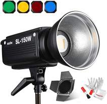 Godox SL-150W, Upgrade Version 5500K Bowens Mount Daylight Balanced LED Continuous Video Light Features CRI93+ TLCI95+ with Wireless Remote Controller, Barndoor, Color Filter and Pergear Cleaning Kit
