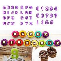 40pcs Alphabet Number Letter Fondant Cake Decorating Set Icing Cutter Mould