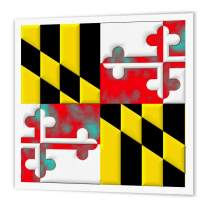 3dRose ht_127635_1 Maryland State Flag Iron on Heat Transfer, 8 by 8-Inch, for White Material