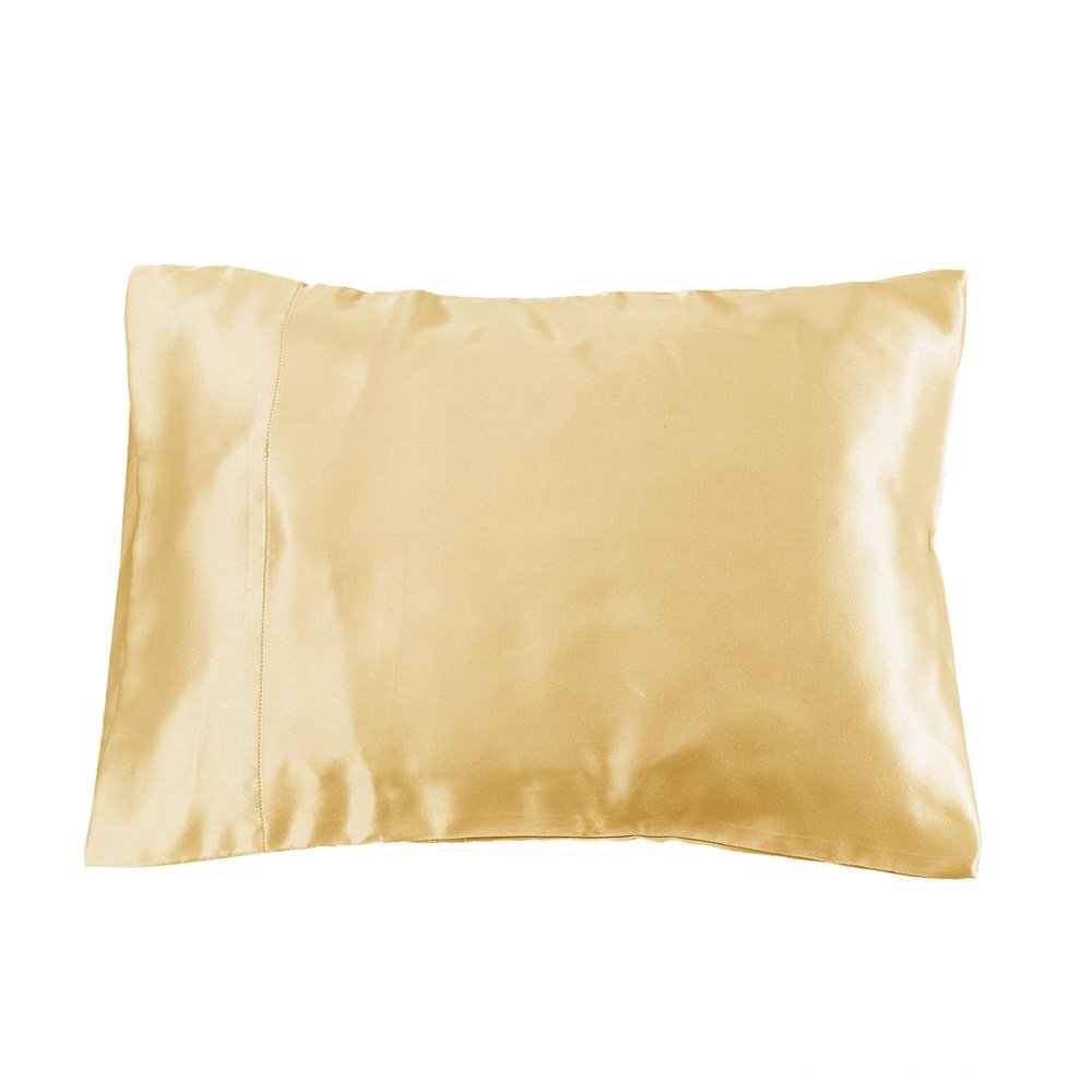 LilySilk Silk Pillowcase - for Kids Bedding for Baby Toddler Travel Size 19 Momme Real Silk 1pc Gold 16x24 Inches