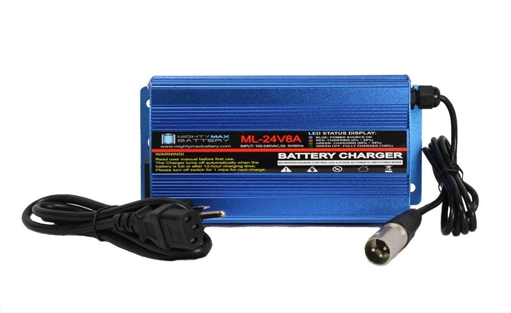 Mighty Max Battery 24 Volt 8 Amp Wheelchair Battery Charger Brand Product