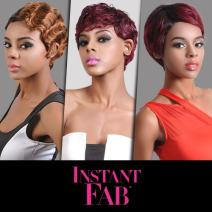 Instant Fab Remi Human Hair Wig Finger Wave (T1B/RED)