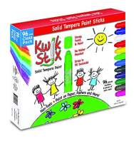 The Pencil Grip Kwik Stix Solid Tempera Paint, Super Quick Drying, 96 Pack (TPG-696)
