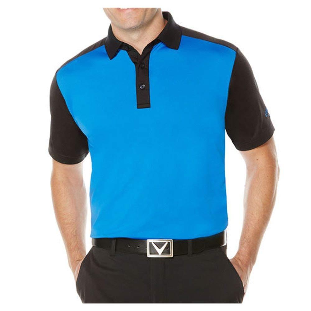 Callaway Men's Short Sleeve Opti-Stretch Blocked Polo Tee